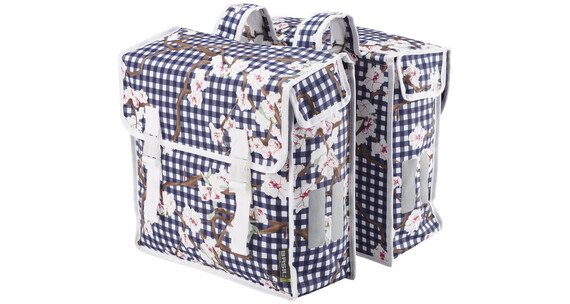 Basil Blossom Farm Doppeltasche weiß-blau